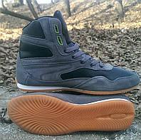 Высокие кроссовки ТМ Restime из кожи и замши, 36,37 рр