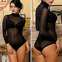 Боди сетка, тм Warssawa, цвет только черный, все размеры. Боди-блузка сеточка. Все размеры.