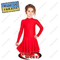 Платье рейтинговое, бейсик П849 красный
