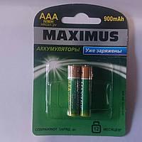 Аккумуляторные батарейки MAXIMUS 900 mAh