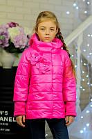 Куртка весенняя для девочки «Миледи», малина