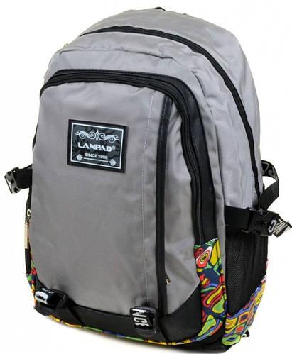 Модный городской рюкзак с отделением для ноутбука текстиль Lanpad 27 л. 3374-3 grey