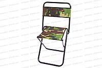 Стул SWD 8708043, металлический каркас, брезентовые сиденье и спинка, складной кемпинговый стул, подарок рыбак