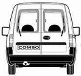 Opel Combo (2001-2011) розпашні двері