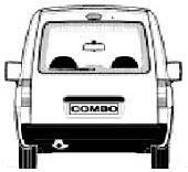 Opel Combo (2001-2011) кришка багажника