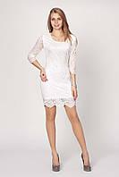 Женское платье Глория   от производителя 44, 46,  48, 50 белое оптом