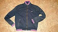 Темно синяя куртка Nike  б/у