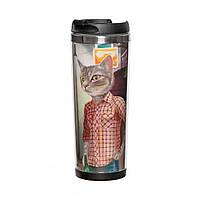 Термокружка для IT-шника «Коты в одежде», фото 1