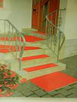 Резиновая дорожка «Безопасность» красная