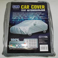 Тент (чехол) для легкового автомобиля М / серый+карманы под зеркала