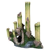 Декорация Trixie бамбук с пещерой 24 см. Арт.88175