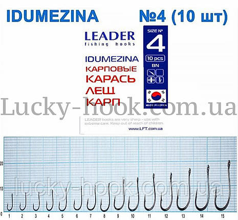 Крючок Leader Idumezina (карась, лещ, карп) № 4, фото 2