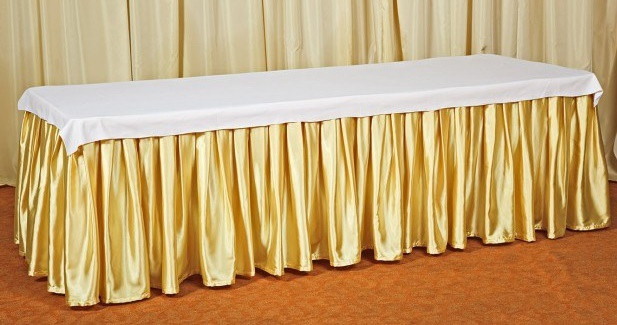 Фуршетная юбка,  Золотая 4 метра.