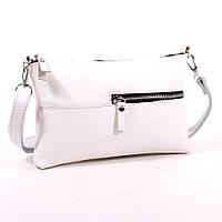 Кожаная женская сумка маленькая белая Модель 10 белый флотар