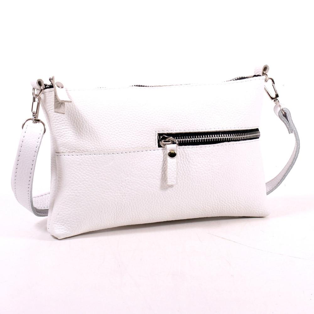 7bdd90844812 Кожаная женская сумка маленькая белая Модель 10 белый флотар - Интернет- магазин