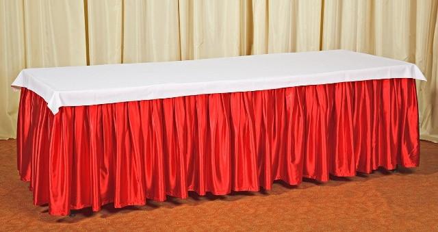 Фуршетная юбка,  Красный 4м (С липучкой).