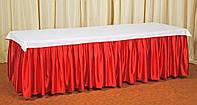 Фуршетная юбка,  Красный 6 метров.