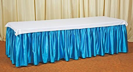 Фуршетная юбка,  Бирюзовая 6 метров., фото 2