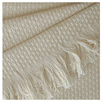 Fresno Pique Blanket (Hasir) от Casual Avenue плед-покрывало из эвкалипта 165х240  ivori