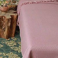 Fresno Pique Blanket (Hasir) от Casual Avenue плед-покрывало из эвкалипта  240х250  palemauve
