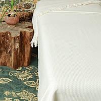 Fresno Pique Blanket (Hasir) от Casual Avenue плед-покрывало из эвкалипта  240х250  ivori