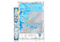 Скретч-карта Європи англійською мовою «Discovery Map of Europe»