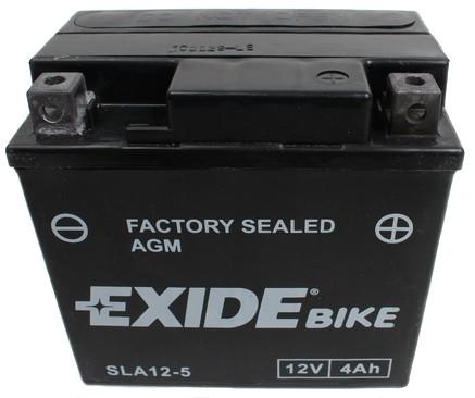 Аккумулятор гелевый мото 4Ah 70A EXIDE SLA12-5 = AGM12-5 для Honda , Yamaha , KTM , Husqvarna , Peugeot