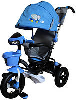 Велосипед 3-х колесный MiniTrike с капюшоном LT960-2, синий