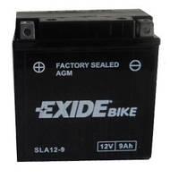 Аккумулятор гелевый мото 9Ah 120A EXIDE SLA12-9 = AGM12-9 для Ducati , Yamaha , Kawasaki , Geon , Aprilia