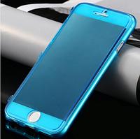 Синий силиконовый чехол-книжка 100% защита для Iphone 6/6S, фото 1