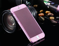 Розовый силиконовый чехол-книжка 100% защита для Iphone 6/6S, фото 1