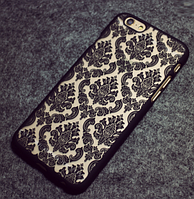 Черный пластиковый ажурный чехол для Iphone 6/6S, фото 1