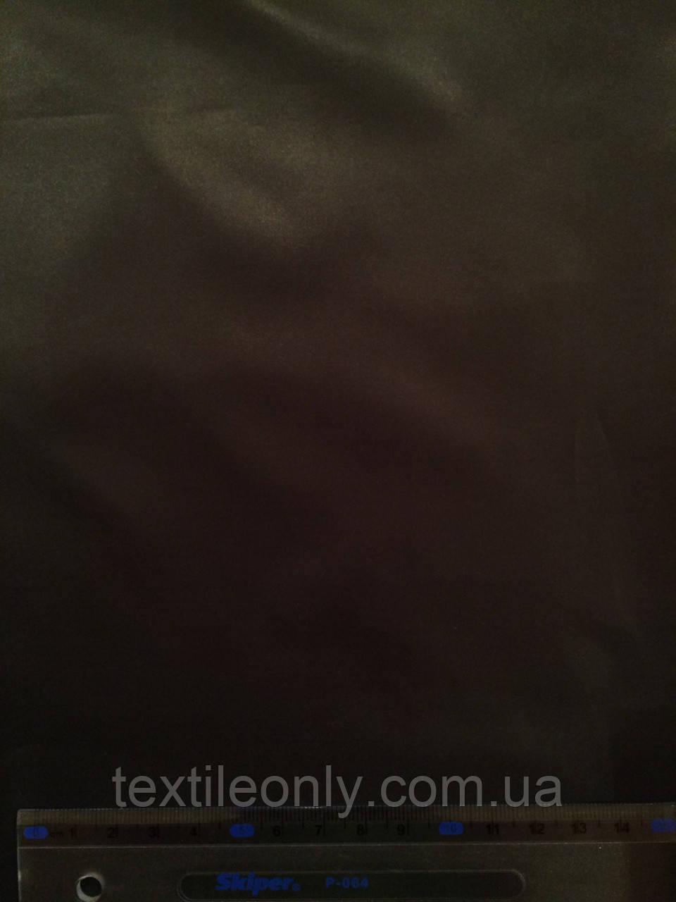 Ткань Плащевка Лаке черная