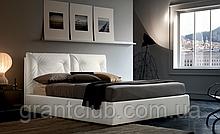Современная кровать в ткани с регулируемым изголовьем Edgar фабрика Felis (Италия)
