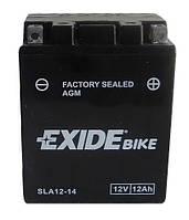 Аккумулятор гелевый мото 12Ah 210A EXIDE SLA12-14 = AGM12-14 для Suzuki , Yamaha , Kawasaki , Gilera , Aprilia