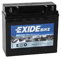 Аккумулятор гелевый мото 18Ah 250A EXIDE AGM12-18 для Yamaha , Kawasaki , HARLEY-DAVIDSON