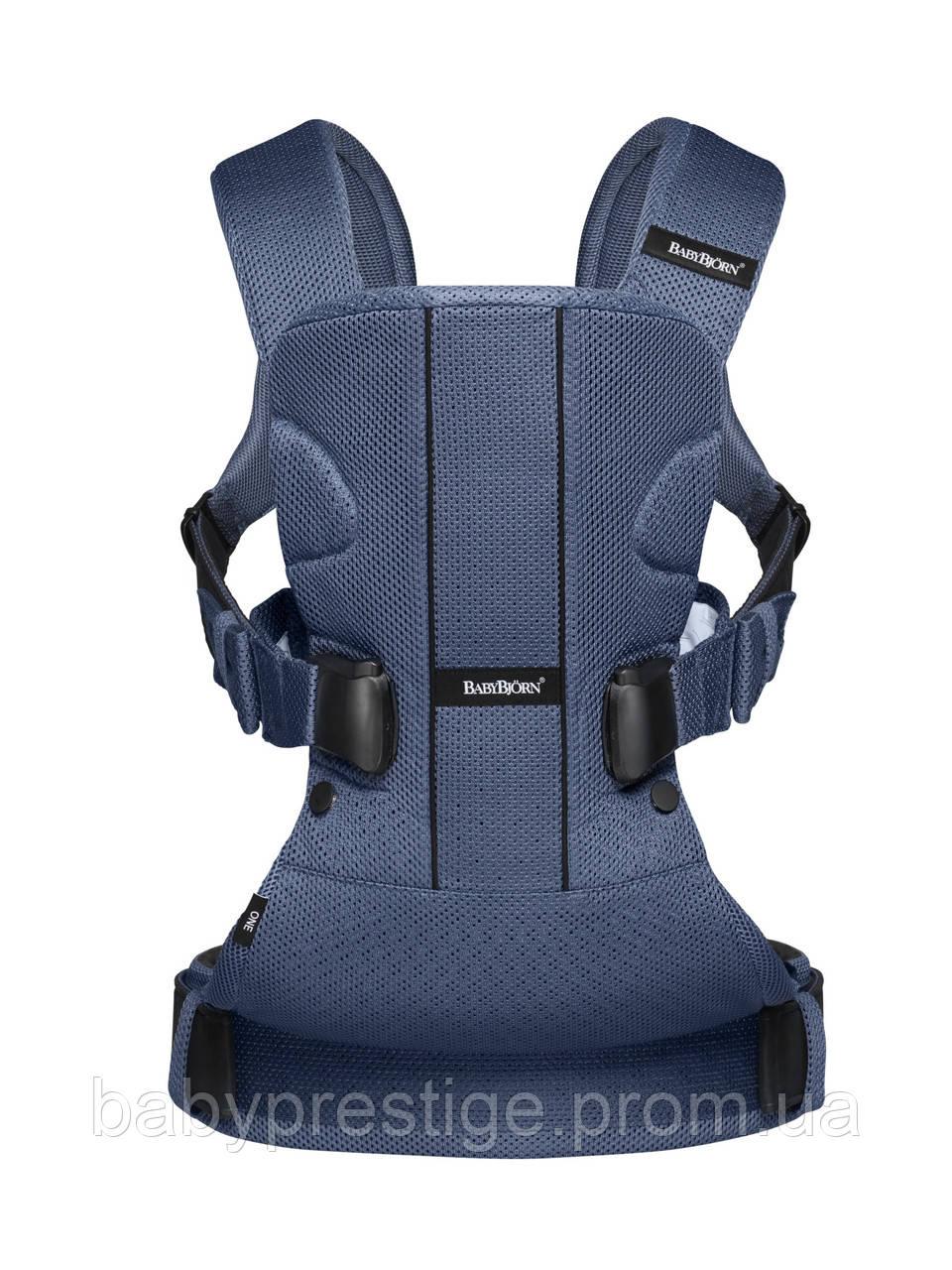 Синий эргономичный рюкзак-кенгуру BABYBJORN ONE Air, синий