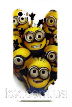 """Силиконовый чехол """"Миньоны сердце"""" для iPhone 6/6S"""
