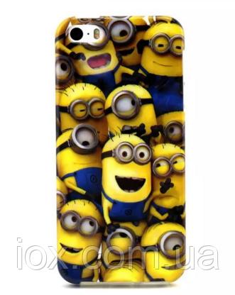 """Силиконовый чехол """"Миньоны"""" для iPhone 6/6S"""