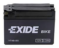 Аккумулятор гелевый мото 2.3Ah 35A EXIDE YT4B-BS для Suzuki Street Magic , Yamaha Vino