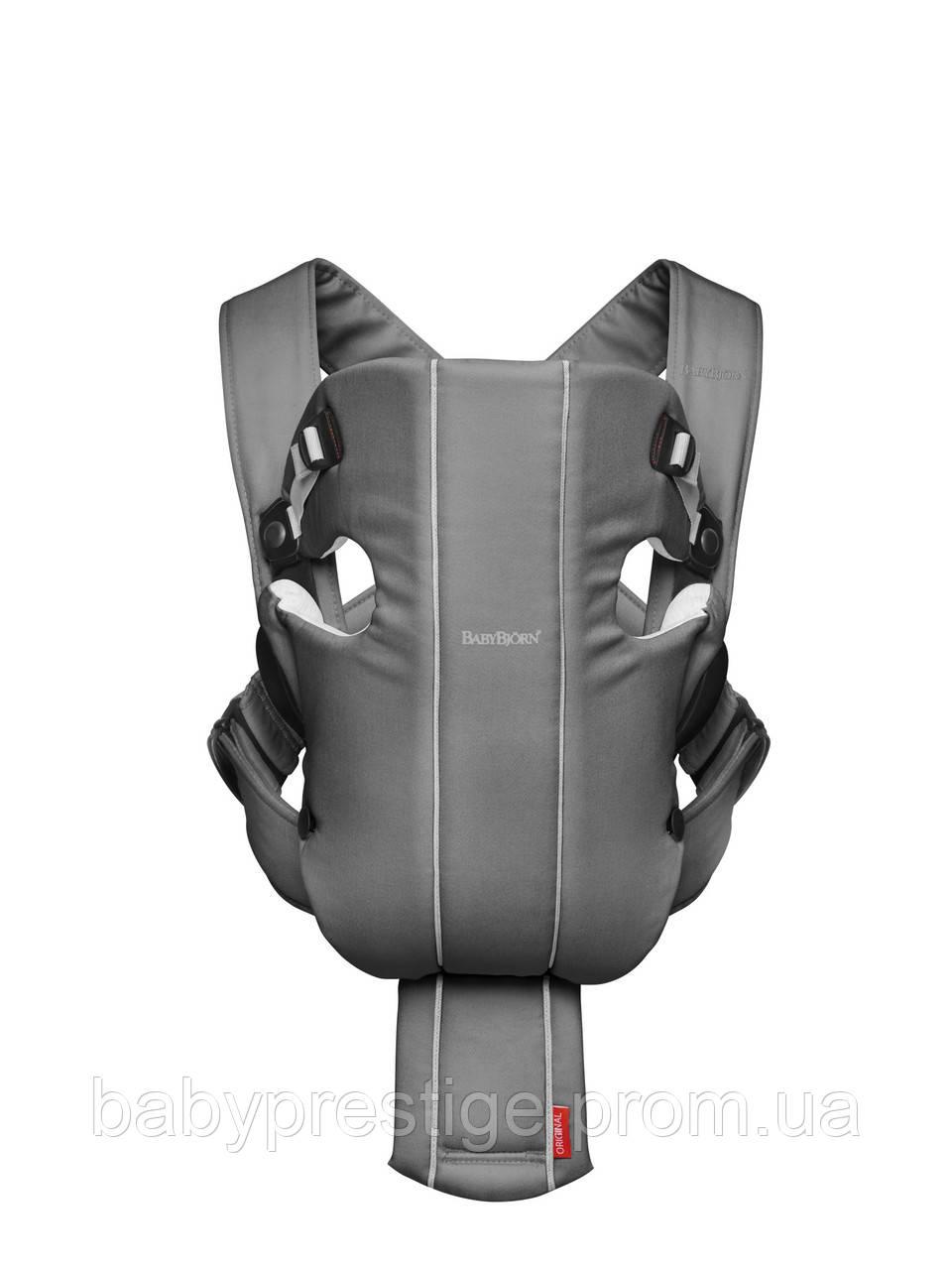 Эргономичный рюкзак кенгуру Babybjorn ORIGINAL Cotton-Jersey, темно-серый/серый