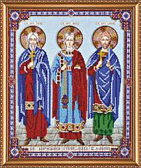 Набор для вышивки бисером на холсте «Святые мученики Гурий, Авив и Самон»