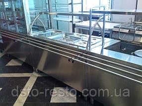 Мармит  вторых блюд с гнутым стеклом 1500/700/1400 мм (4 GN1/1), фото 2