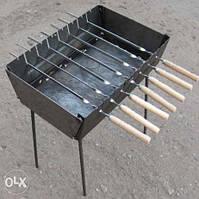 """Мангал чемодан на 8 шампуров (раскладной) (металл """"2"""" мм)"""