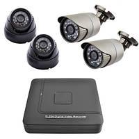 Комплект видеонаблюдения KN1004 сетевой (4 камеры)