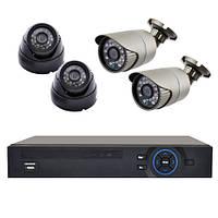 Комплект видеонаблюдения KN7904DP IP (4 камеры)