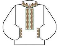 Заготовка для вышивки рубашки в украинском стиле