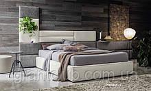М'яка сучасна ліжко з широким узголів'ям SOMMY фабрика Felis (Італія)