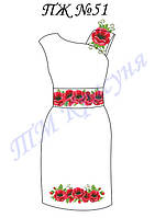 Платье женское без рукавов с поясом ПЖ51