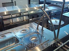 Мармит  вторых блюд с гнутым стеклом 1500/700/1400 мм (4 GN1/1), фото 3